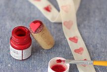 Heart print / Bottle cork