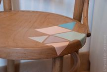 wood thing/relook chaise
