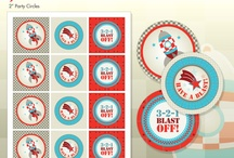 3, 2, 1... Blast Off / by Squared Wedding Press / Squared Party Printables