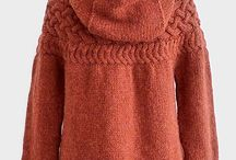 Sweaters, coats, and jackets; Knit or crochet