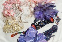 Vintage Accessories / Beaded pieces, Vintage flowers, Sew Ons, Trimmings