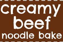 Creamy beef noodle dish