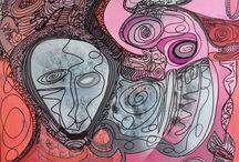 Acrylic Paintings / Noen av mine malerier som er utstilt på min Hjemmeside.