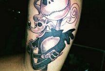 memang yg dri blakang itu selalu sakit #tattoo #jackskellington #sleeve