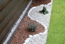 Ideas organizar jardín piedras blancas