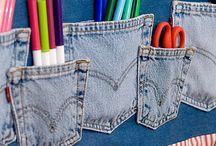 Vaqueros- demin- jeans / Cosas chulas para aprovechar los vaqueros. No valen horteradas..