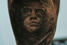 Slash tattoos / Slash on skin