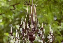 Wedding Lights and Chandeliers / Chandeliers and lighting set a romantic touch for weddings and events.