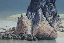 Ceri Auckland Davies Solo Exhibition / 15 September - 8 October 2016  Eagerly anticipated solo exhibition by Ceri Auckland Davies who works exclusively in egg tempera.  The fine detail of his work comprising multi-layers of paint allows sand and pebbles to be seen beneath the sea.