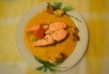 Meals home made / salmone su letto di zucca