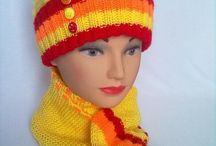 вязание шапочки шарфики палантинь