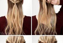 Hairstyles / U don't know what to do with your hair ? Here are some ideas