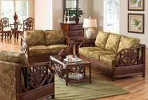 Tropical Cancun Palm Rattan Living Room Collection / The Cancun Palm has such a great tropical feel with the carved Palms.