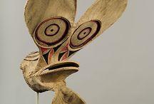 Océanie - masques / Masques du continent océanien