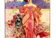 art nouveau, szecesszió, vintage,