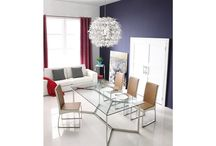 Modern Stainless Steel Clear Glass Dining Table