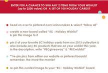 EC: Holiday Wishlist / Yay! I hope I win!
