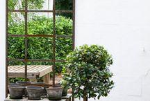 Tuin - witte muur