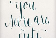 calligraphy / by Erica Massey