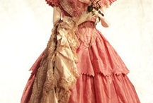 1850s ball gowns / Ball gowns of the hoop era