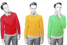 Men in Knits / Men wearing knits as seen on TV, the runway, catalogues and elsewhere.
