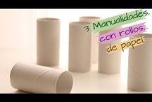 3 manualidades con rollo de papel