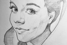 Esboços de retratos