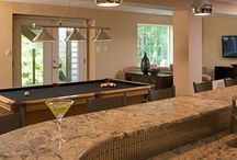 Bar / Whether you are looking for a sports bar feel or someplace to have a drink with family, we can design it.