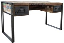 Desks, Tables / Custom Designed and Imported Desks and Tables. Material: wood & metal.