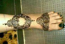 feet mehndi design
