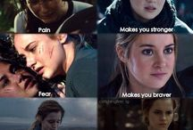 harry potter/the hunger games/divergent