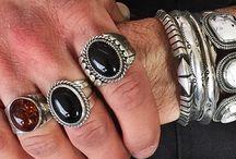 mens. / #men #fashion #gift #mensgift #losangeles #onyx #lapis #turquoise #amber #ring #cuff #silver