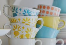 arabia vintage mugs & cups/saucers / arabia vintage mugs & cups/saucers