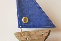 Small boats / driftwood boats