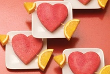 San Valentino con frutta e verdura / Idee creative realizzate con frutta e verdura per il giorno di San Valentino
