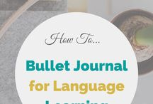 Language Bullet Journal Inspiration <3