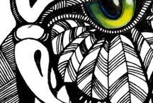 Yin-Yang / painting, sketches, drawing