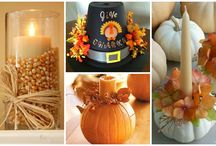 Thanksgiving Decor Ideas / Featuring DIY crafts to grab the attention of guests at any Holiday party!