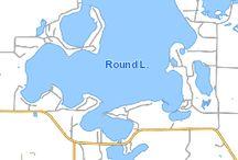Round Lake Hayward WI / 3294 acres  74' max depth www.woodlanddevrealty.com
