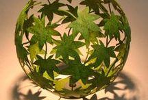 шар из листьев