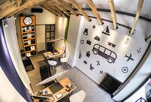 Moutsios Holidays Office / Travel agency, interior, graphic and web design, by Circus Design Studio http://www.circusdesignstudio.com/
