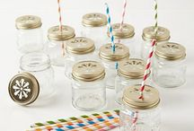 Mason Jars / Cool crafts -- from drinking classes to candle votives -- that can be made with mason jars.