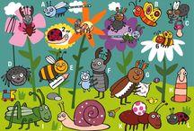 Thema kriebelbeestjes - school