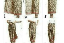 Cara pake kain , sarong dan scarf
