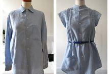DIY - chemise homme / Des tutoriels pour donner une seconde vide à une chemise d'homme