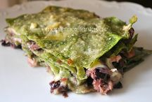 Lasagne, parmigiana di melanzane ed altre verdure