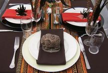 Africa theme table