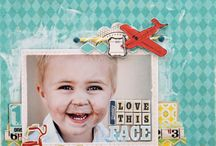 Scrapbooking Page Layouts- Baby Boy/Boy / Scrapbooking pages that I like and would love to recreate in my own scrapbooks in the future! / by Kelley Wullaert