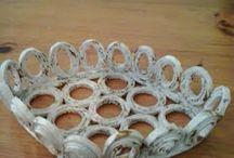 il gufetto birichino / oggetti creati con carta riciclata , vasetti di vetro , rose di raso e altro!!