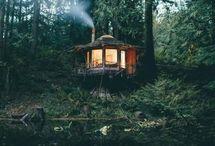 Ma cabane du bout du monde / Comme une envie de me réfugier dans une cabane du bout du monde : la nature, les animaux, le ciel, la cabane... et moi ! -- Alaska, Canada, USA, Patagonie, Chili, Argentine, Islande, Polynésie et îles des mers du Sud... des montagnes à la mer ☀️